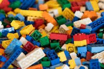 colorful pile of lego building blocks